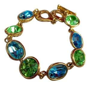 4d8914294ef Saint Laurent Vintage YSL Gold Plated Costume Bracelet. Saint Laurent Blue  & Green ...