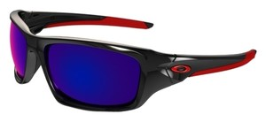 Oakley Oakley OO9236-02 Valve Polished Black / Red Iridium Sunglasses