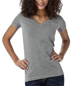 Mossimo Supply Co. V-neck Simple Versatile T Shirt Gray