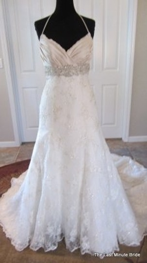 Preload https://item5.tradesy.com/images/casablanca-ivory-lace-1923-feminine-wedding-dress-size-8-m-48184-0-0.jpg?width=440&height=440