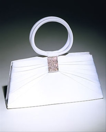 White/Silver Bridal Handbag