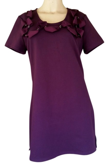 Preload https://item1.tradesy.com/images/eggplant-new-jersey-bow-detail-tunic-medium-m-above-knee-short-casual-dress-size-8-m-4819645-0-0.jpg?width=400&height=650