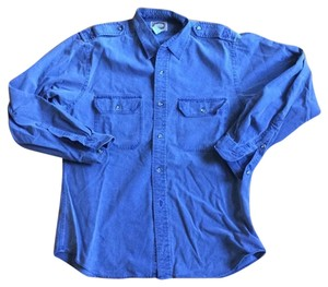 Banana Republic Vintage Comfortable Detail Button Down Shirt Purple / Blue