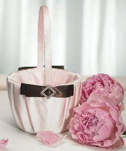 Pink & Brown Strawberry & Chocolate Flower Basket