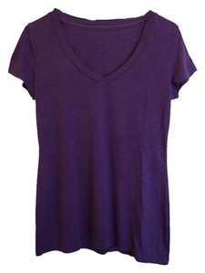 Gap Simple Vneck V-neck V Neck T Shirt Purple