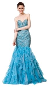 Colors Dress Prom Crisscross Back Strapless Dress