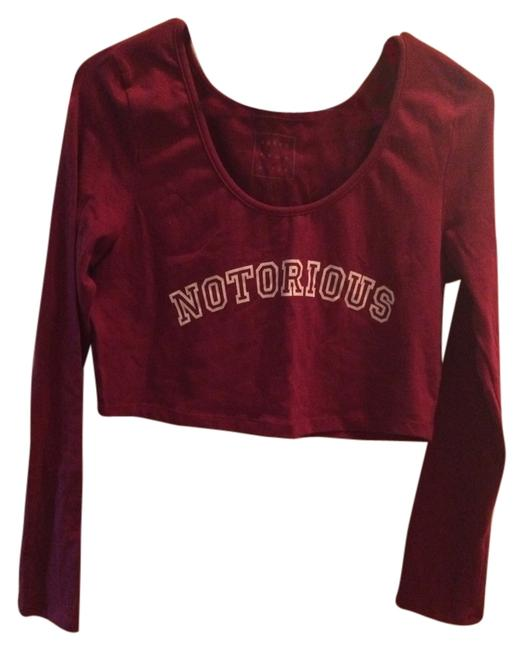 Young Romantics Pacsun Longsleeve Crop New New Without Tags T Shirt Red
