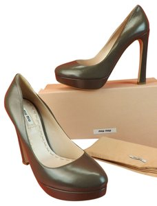 Miu Miu Olive Green Pumps