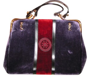 Roberta di Camerino Vintage Satchel in purple and red