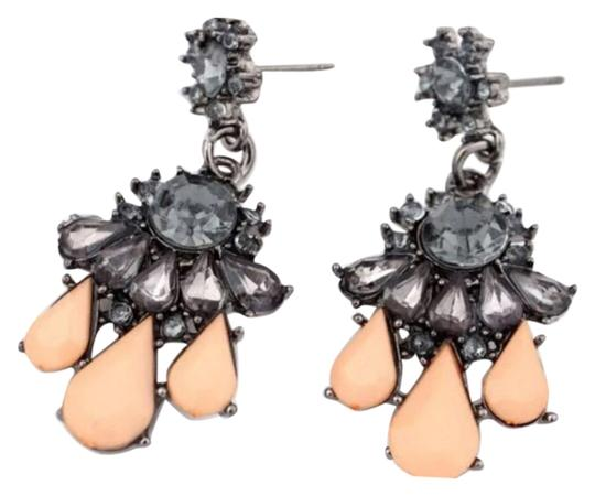 Other Brand New Pastel Peach w/Crystal Statement Earrings