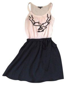 Express short dress Black, light peach on Tradesy