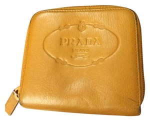 Prada Prada Mustard Leather Wallet