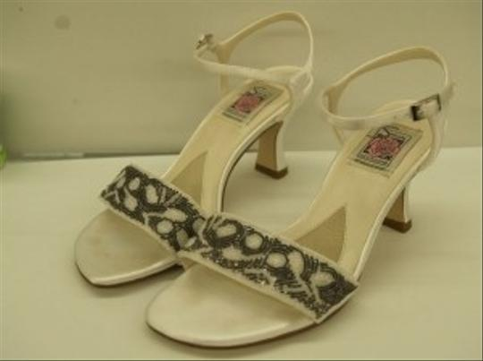 Special Occasions By Saugus Shoe 2820 White / Dark Silver Size: 7 Size 7 Open Toe Wedding Shoes