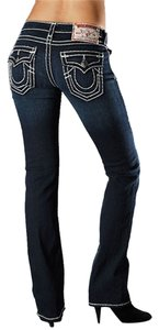 True Religion Women Billy Super T Fall/winter Straight Leg Jeans-Dark Rinse