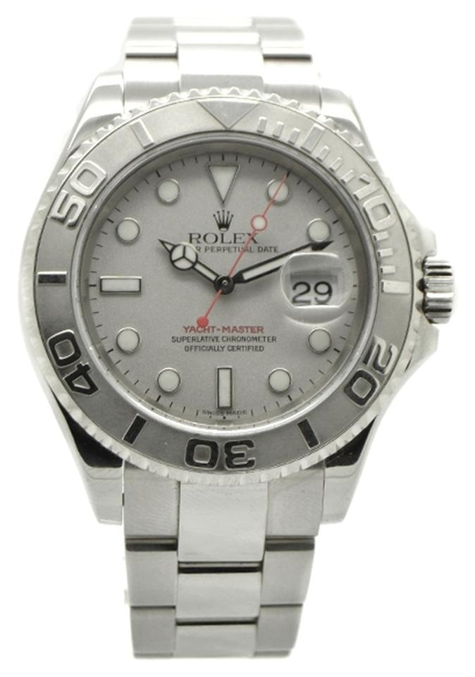 rolex yachtmaster 16622 stainless steel grey dial mens watch 51 rolex rolex yachtmaster 16622 stainless steel grey dial mens watch