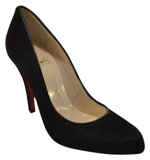 Christian Louboutin Calf Hair Dark brown Pumps