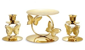 Other Butterfly Holder Set Gold Unity Candle