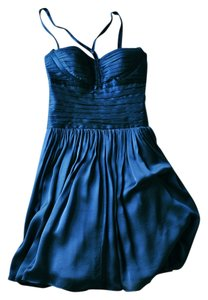 Laundry by Shelli Segal Royal Silk Cocktail Bodice Fitted Dress