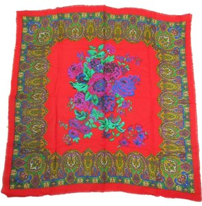 Berkshire Scarf Red Floral Japan Challis Berkshire