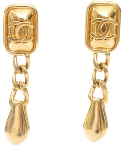Chanel CHANEL GOLD DROP EARRINGS VINTAGE FROM AUTUMN OF 1997