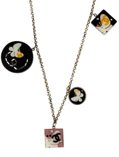 Chanel Butterfly CC Logo Crystal Resin Lucite 07P Square Circle 12 Station