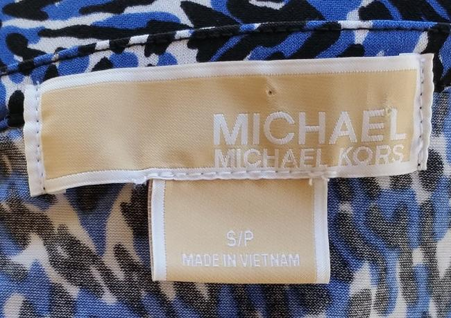 Michael Kors Print Slinky Top Blue