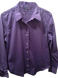 Lauren Ralph Lauren Button Down Shirt Purple