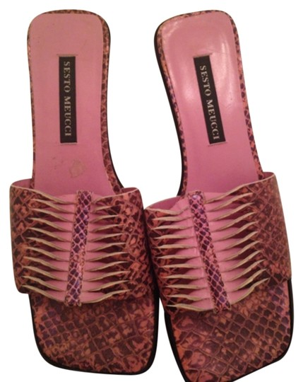 Sesto Meucci Pink and black Sandals