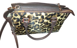 Michael Kors High End Calf Hair Satchel in Leopard