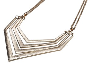 Gold Textured Geometric Necklace