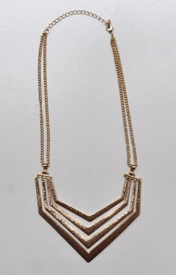 Other Gold Textured Geometric Necklace