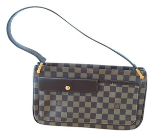 Louis Vuitton Lv Damier Vintage Unique Pretty Brown Canvas Leather Shoulder Bag