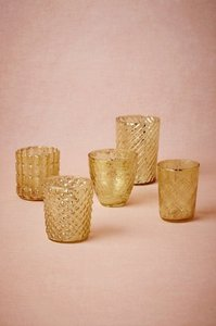BHLDN Gold Mercury Bric-a-brac Votive/Candle