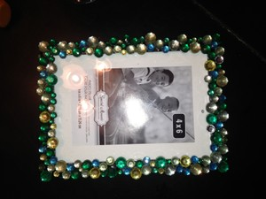 Not Rated Turquoise and Silver Gems Gem Encrusted Frame Other