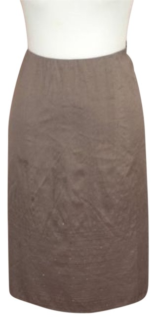 Eileen Fisher Embroidered Sequins Skirt Taupe