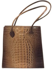 Harvey Nicholas Tote in Briwn/tan