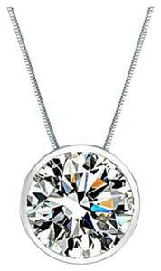 9.2.5 cz diamond wedding bridal bride bridesmaid halo round 1.5 ct necklace pendant chain no