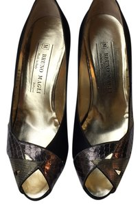 Bruno Magli Black /bronze Pumps
