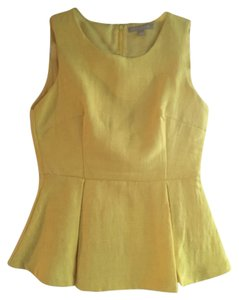 Banana Republic Peplum Sleeveless Top Yellow