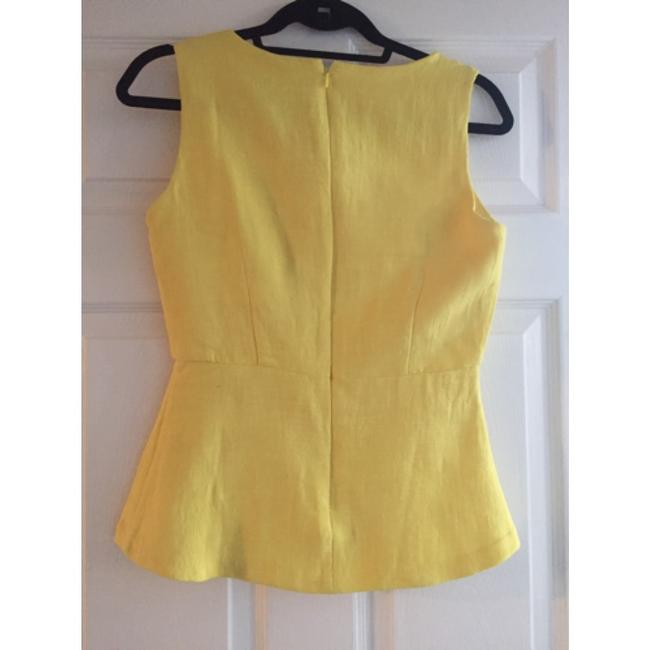 Banana Republic Peplum Sleeveless Gap Top Yellow