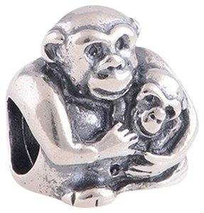 9.2.5 1 Pcs Loose Beads 925 Sterling Silver Monkey Daughter Mother Mom Mommy Diy Fit Bracelets Charm Dangle