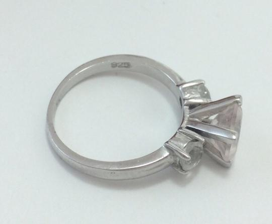 9.2.5 5678 Silver Cz 3 Stone Layer Cut Engagement Ring