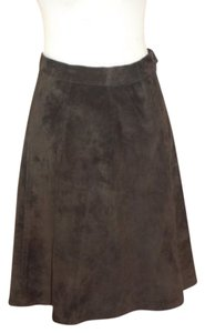 Icelandic Design Suede A-line Skirt Brown