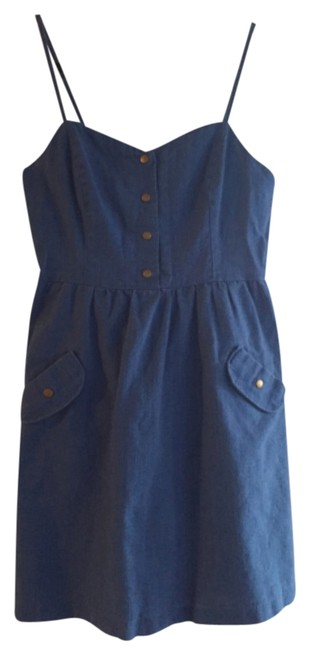 Urban Outfitters short dress Blue Cut Out Spaghetti Strap on Tradesy