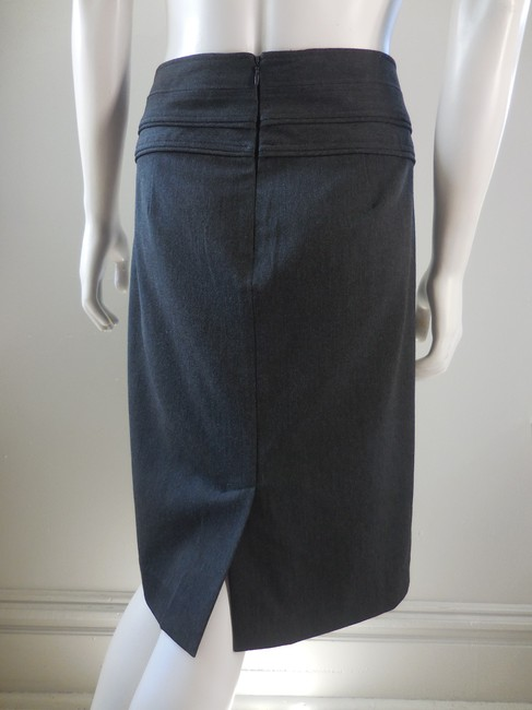 Adrienne Vittadini Straight Stretchy Career 1941 Skirt Dark Gray