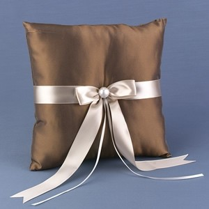 Other Meant To Be Taupe Ring Bearer Pillow