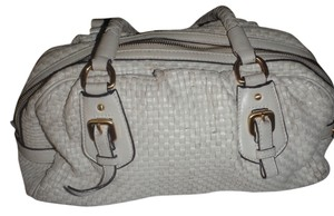 Prada Shoulder Satchel in white/cream/off white