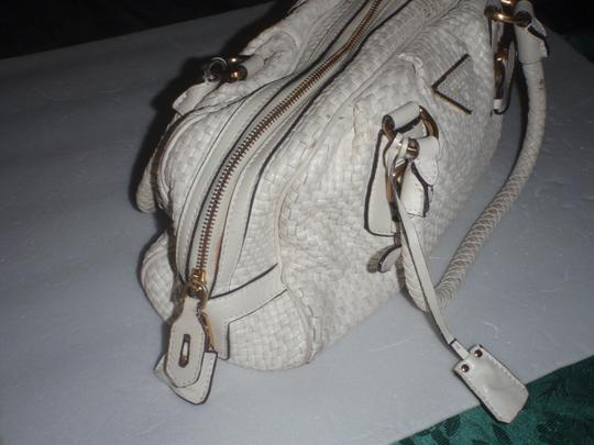 Prada Handbag Shoulder Purse Satchel in white/cream/off white