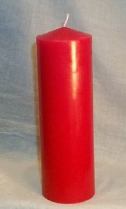 Red W/ Matching Tapers Unity Candle