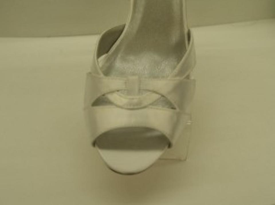 Outs Ariel Formal Toe Comfortable Toe Heel Cut Thick Peep Open Dyeables White Satin aRfnqR58